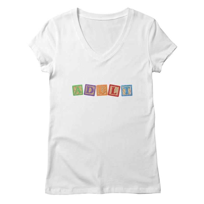 I is adult Women's Regular V-Neck by His Artwork's Shop