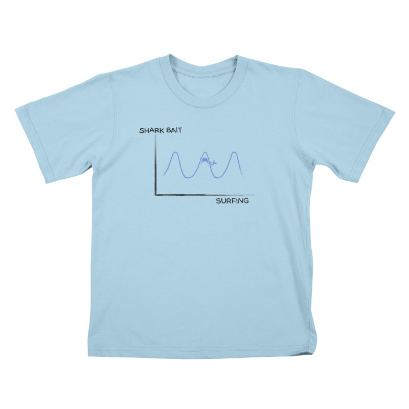Shark Bait Graph Kids T-Shirt by His Artwork's Shop