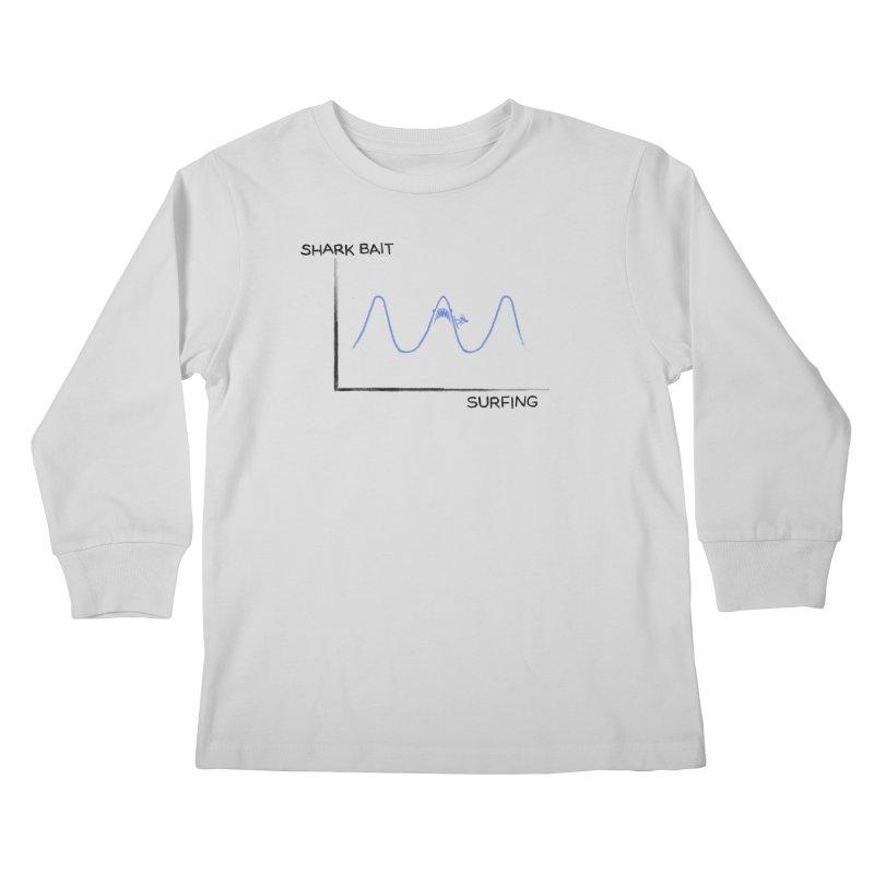 Shark Bait Graph Kids Longsleeve T-Shirt by His Artwork's Shop