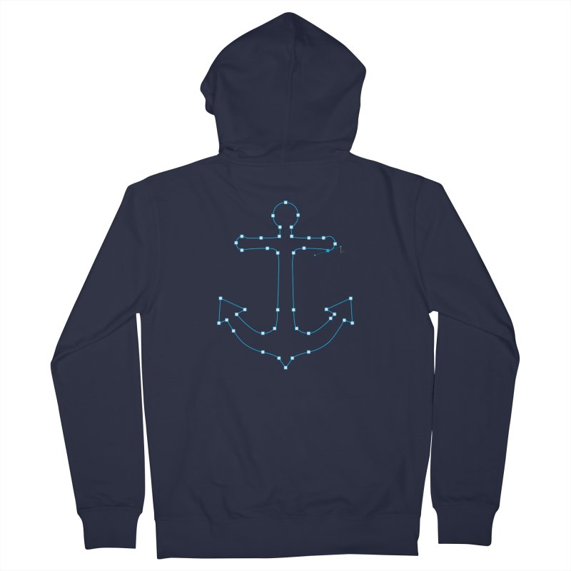 Anchor Points Men's French Terry Zip-Up Hoody by His Artwork's Shop