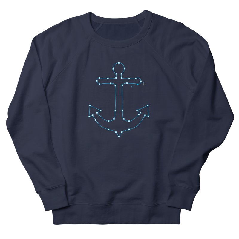 Anchor Points Men's French Terry Sweatshirt by His Artwork's Shop