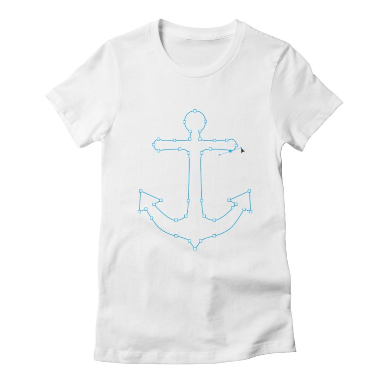 Anchor Points Women's Fitted T-Shirt by His Artwork's Shop