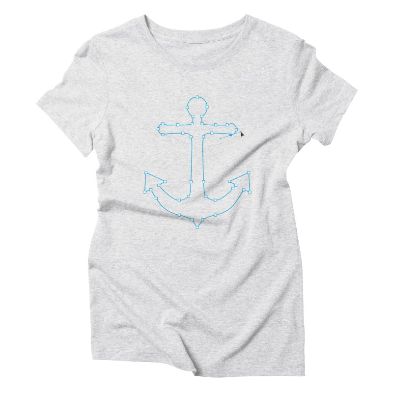 Anchor Points Women's Triblend T-Shirt by His Artwork's Shop