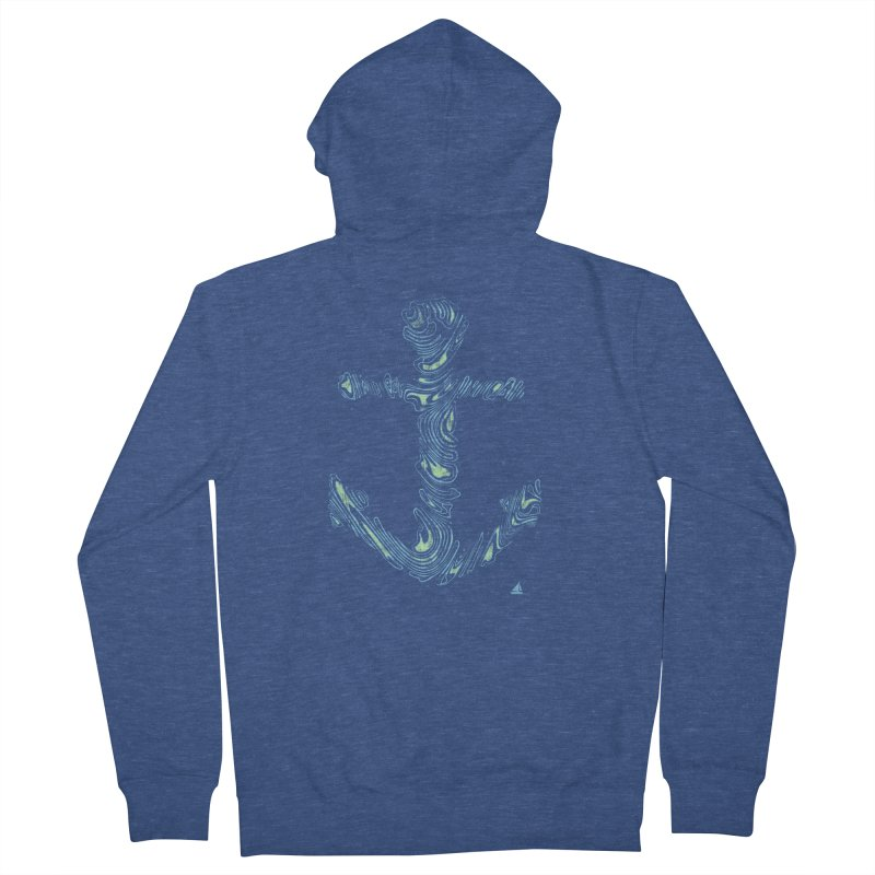 Sail Aweigh Men's Zip-Up Hoody by His Artwork's Shop