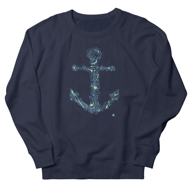 Sail Aweigh Men's French Terry Sweatshirt by His Artwork's Shop