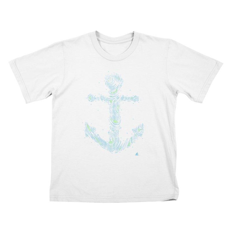 Sail Aweigh Kids T-Shirt by His Artwork's Shop
