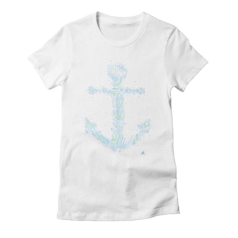 Sail Aweigh Women's Fitted T-Shirt by His Artwork's Shop