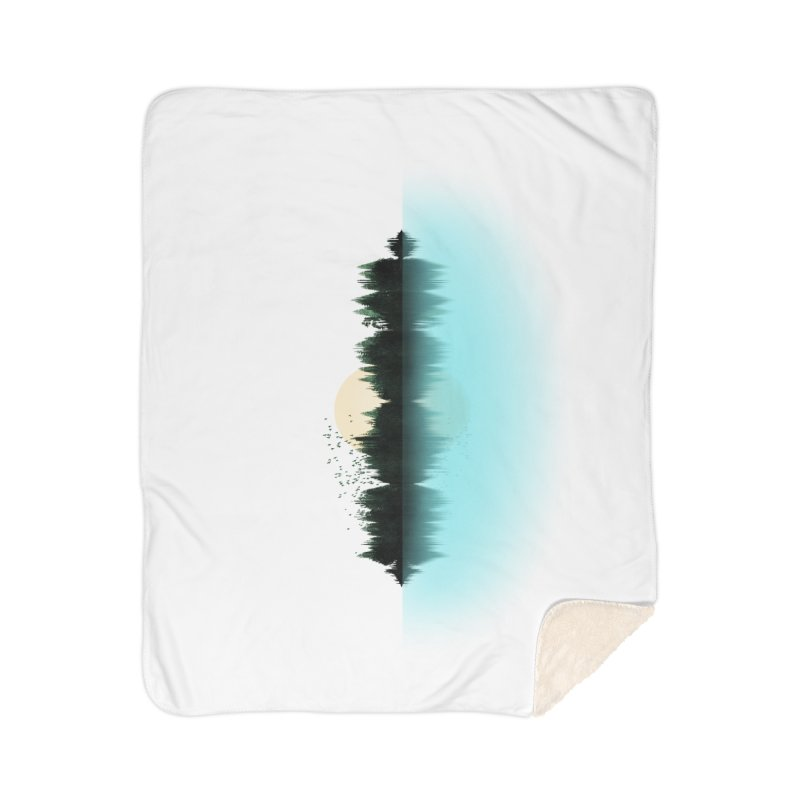 The Sound of Nature Home Sherpa Blanket Blanket by His Artwork's Shop