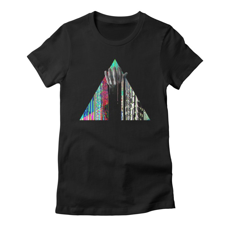 Fragments Women's Fitted T-Shirt by His Artwork's Shop