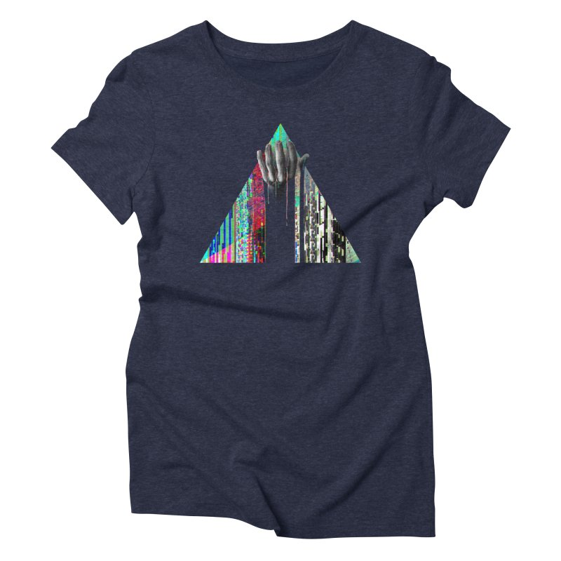 Fragments Women's Triblend T-Shirt by His Artwork's Shop