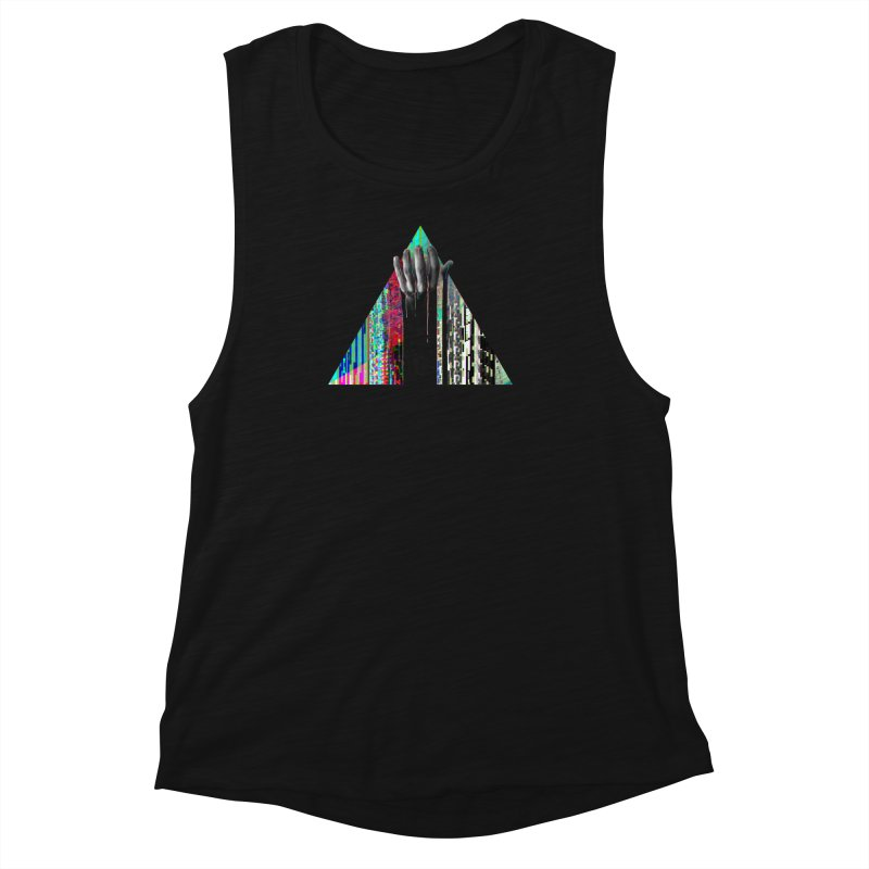 Fragments Women's Muscle Tank by His Artwork's Shop