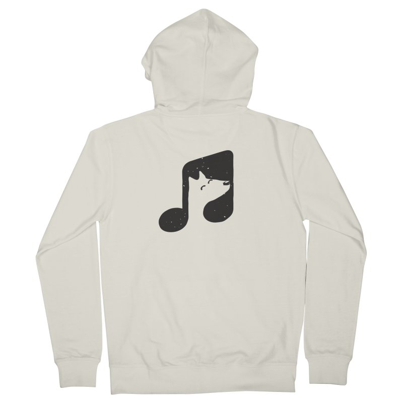 Bark Note Women's Zip-Up Hoody by His Artwork's Shop