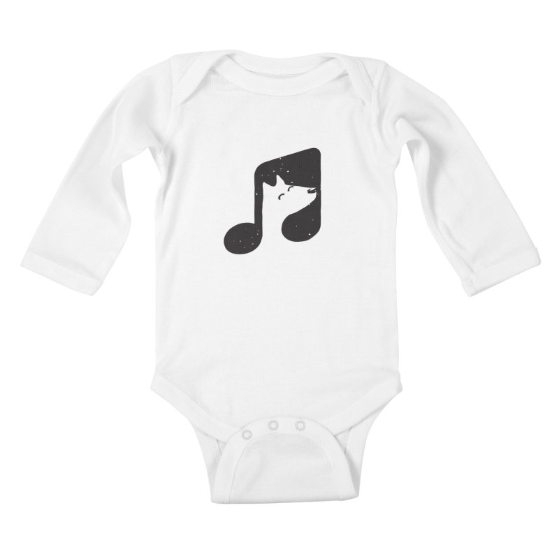 Bark Note Kids Baby Longsleeve Bodysuit by His Artwork's Shop