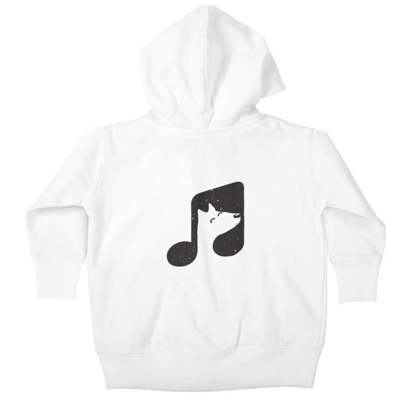 Bark Note Kids Baby Zip-Up Hoody by His Artwork's Shop