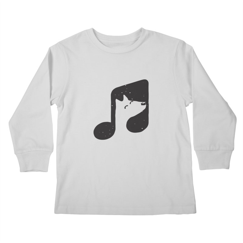 Bark Note Kids Longsleeve T-Shirt by His Artwork's Shop