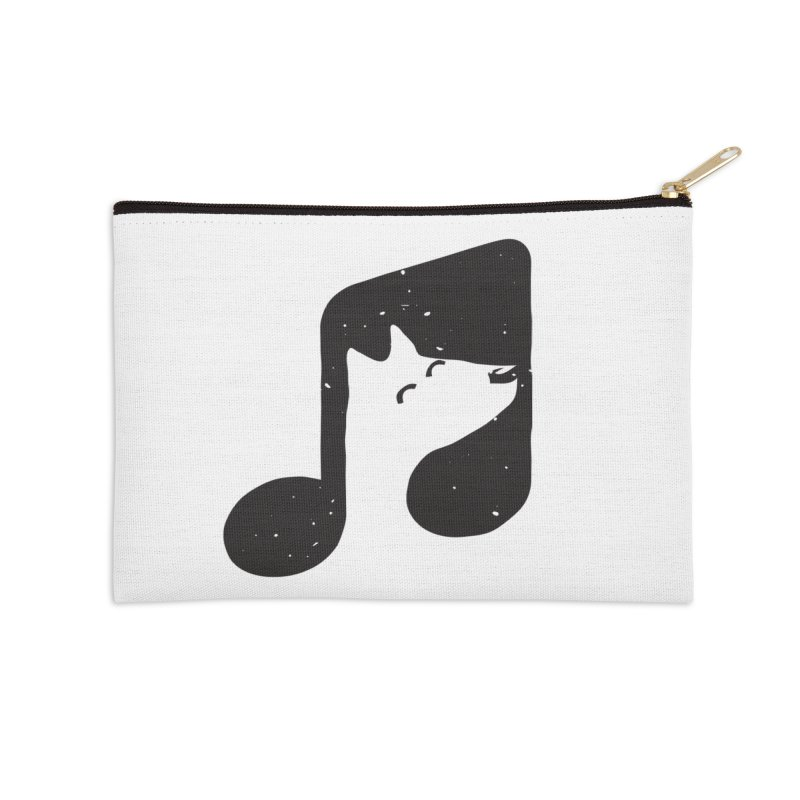Bark Note Accessories Zip Pouch by His Artwork's Shop