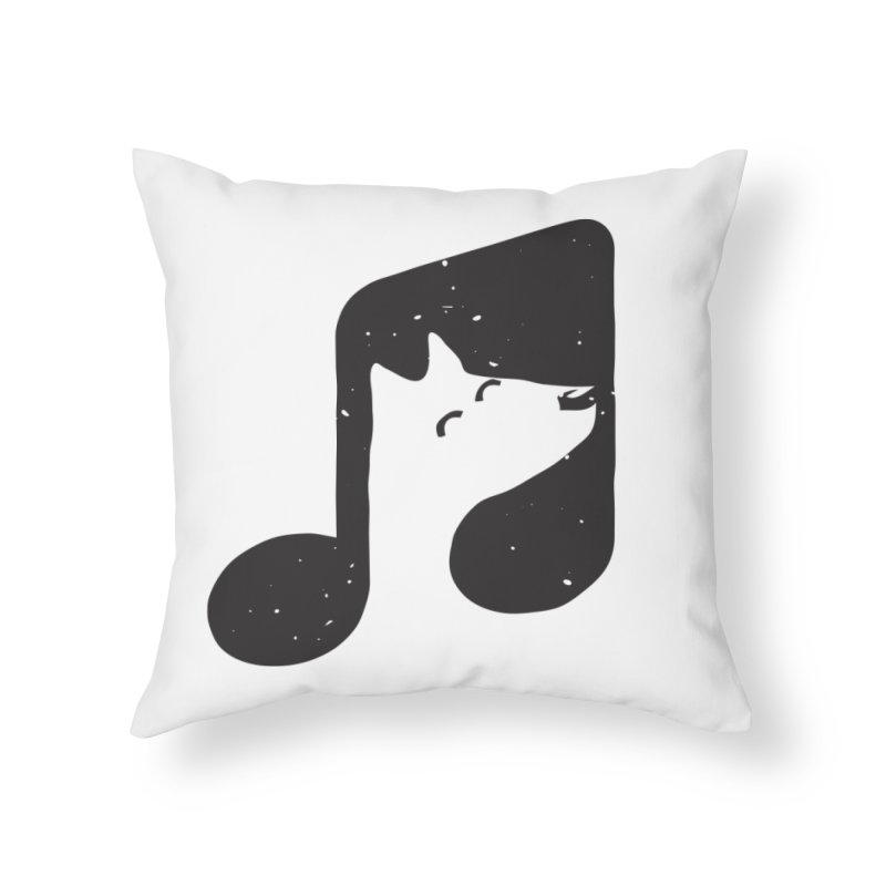 Bark Note Home Throw Pillow by His Artwork's Shop