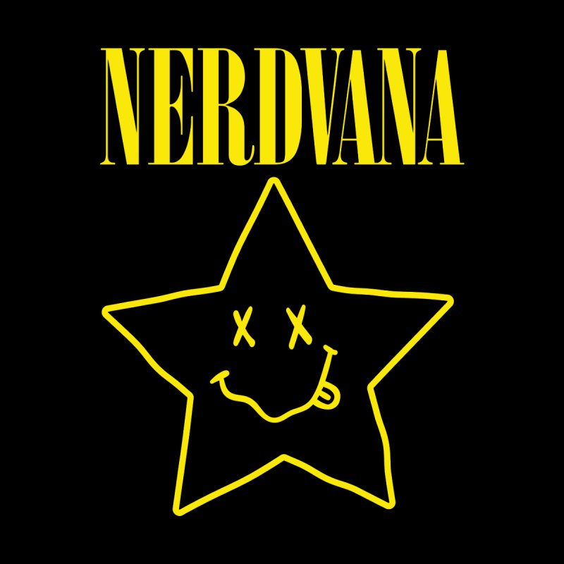 NERDVANA Men's V-Neck by His Artwork's Shop