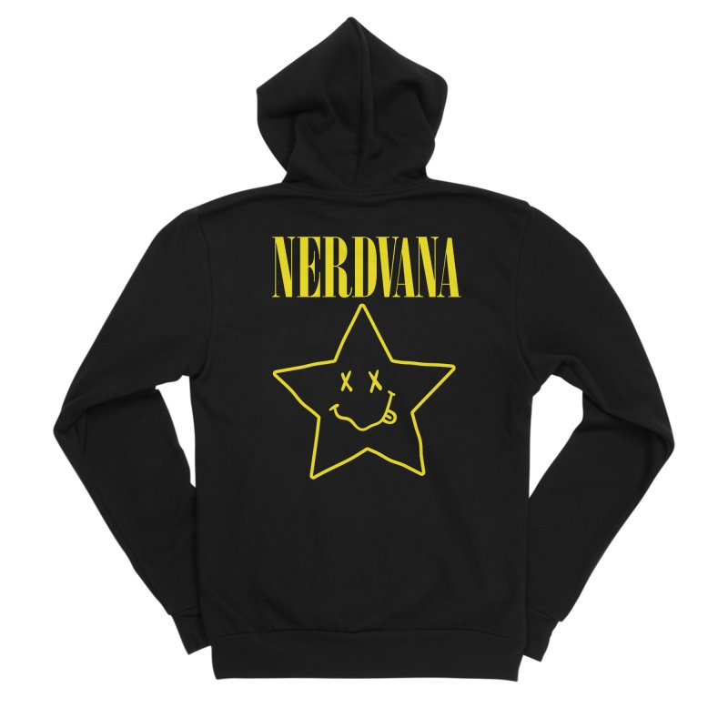 NERDVANA Men's Sponge Fleece Zip-Up Hoody by His Artwork's Shop