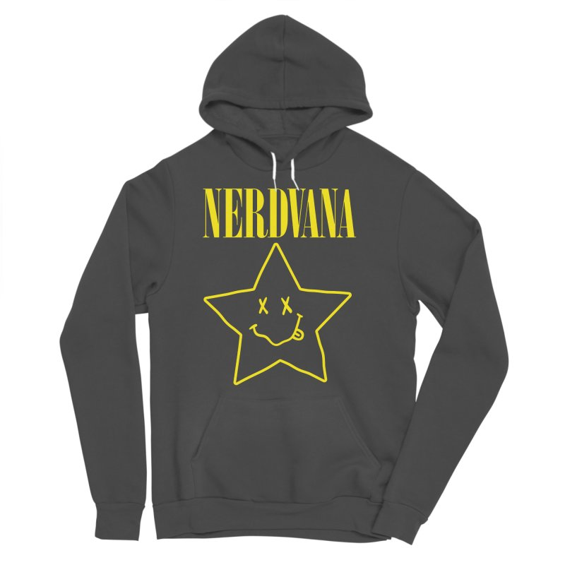 NERDVANA Women's Sponge Fleece Pullover Hoody by His Artwork's Shop