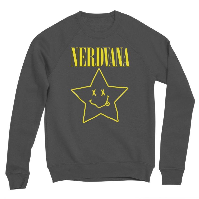 NERDVANA Men's Sponge Fleece Sweatshirt by His Artwork's Shop
