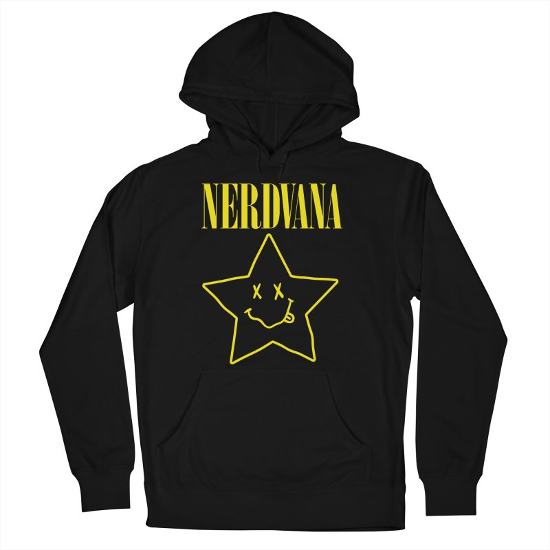 NERDVANA Men's French Terry Pullover Hoody by His Artwork's Shop