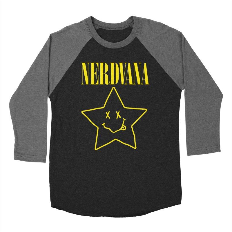 NERDVANA Men's Baseball Triblend Longsleeve T-Shirt by His Artwork's Shop