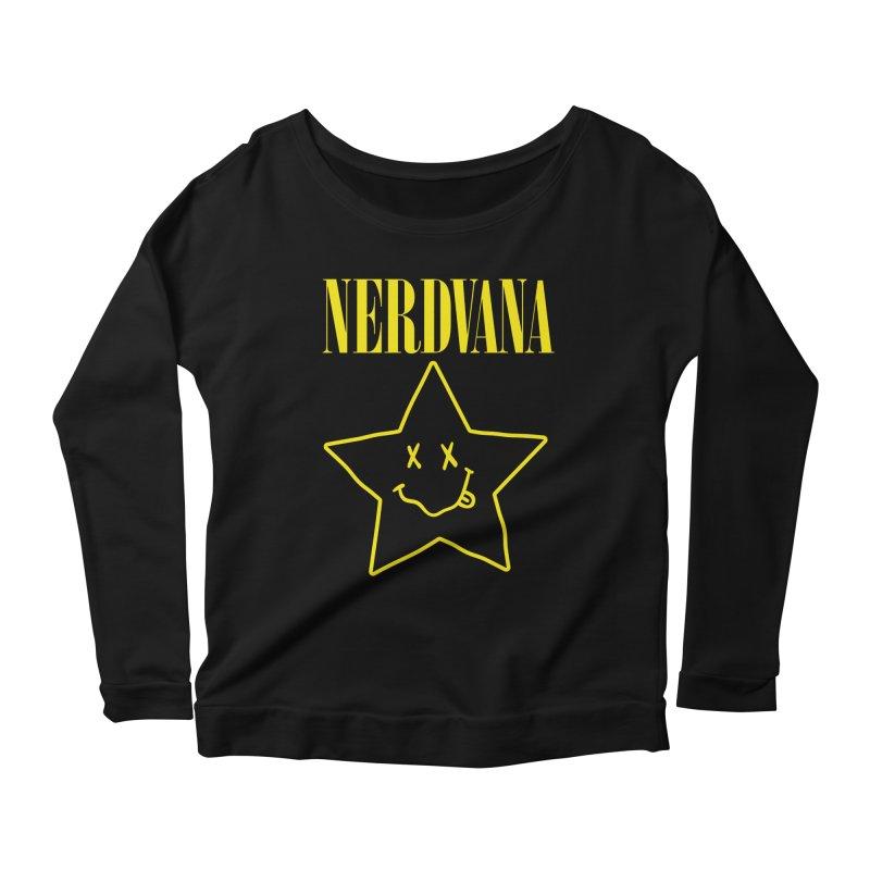 NERDVANA Women's Scoop Neck Longsleeve T-Shirt by His Artwork's Shop