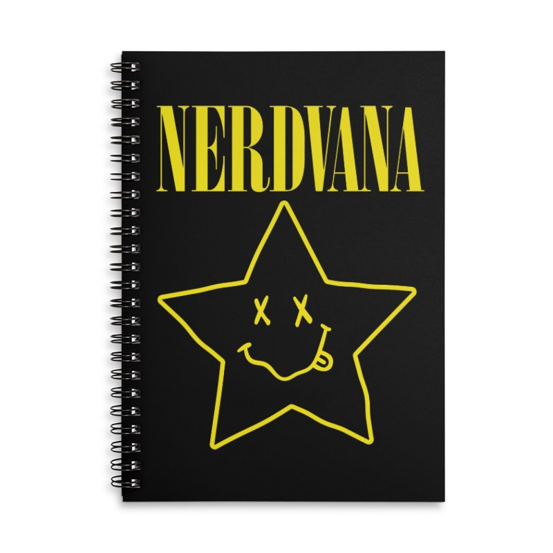 NERDVANA Accessories Lined Spiral Notebook by His Artwork's Shop