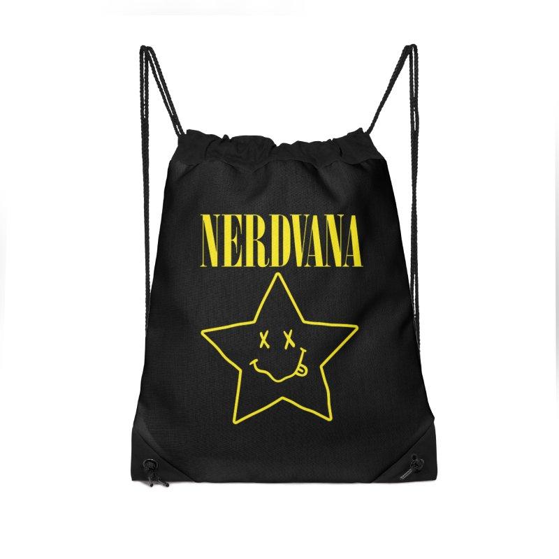 NERDVANA Accessories Drawstring Bag Bag by His Artwork's Shop