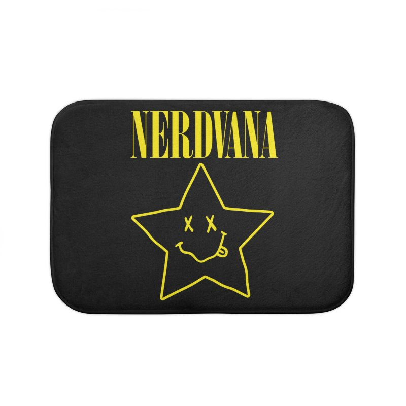 NERDVANA Home Bath Mat by His Artwork's Shop