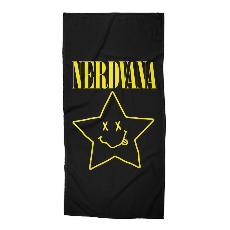 NERDVANA Accessories Beach Towel by His Artwork's Shop