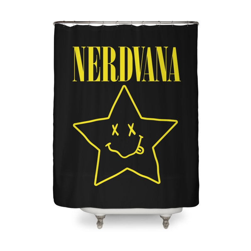 NERDVANA Home Shower Curtain by His Artwork's Shop