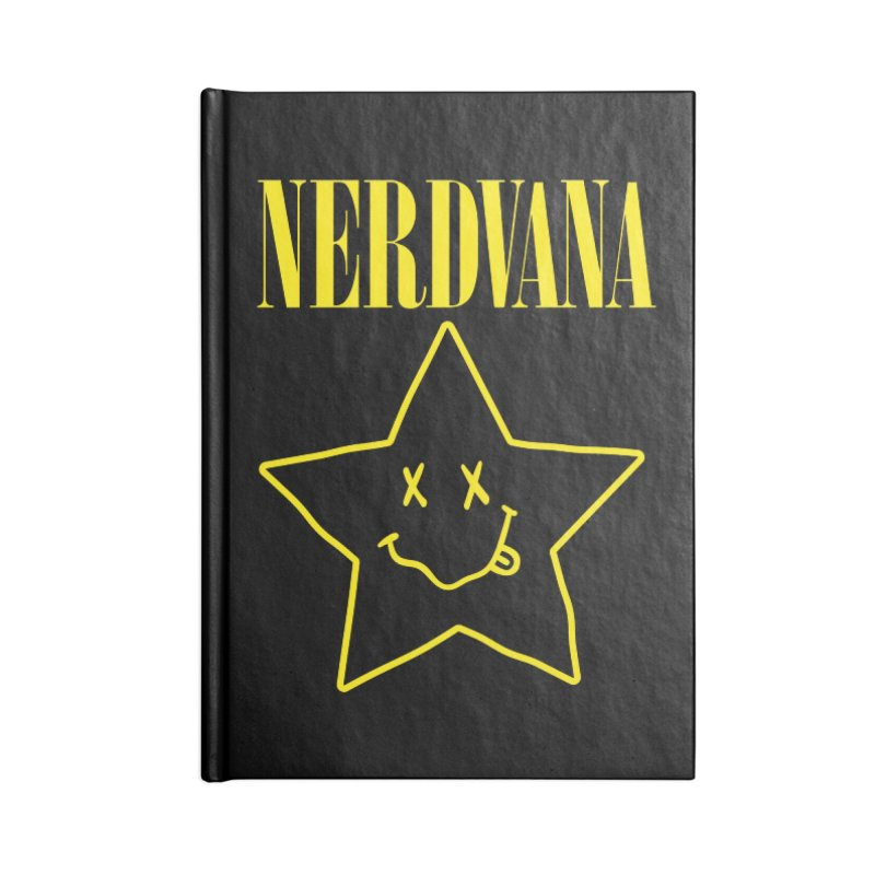 NERDVANA Accessories Blank Journal Notebook by His Artwork's Shop