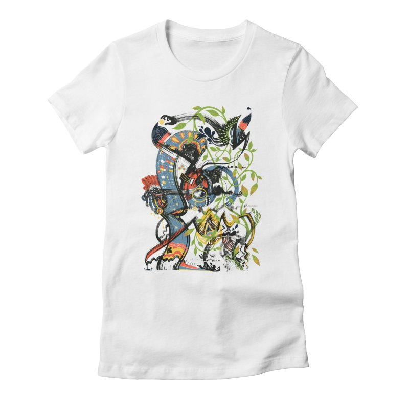 Discovery Women's Fitted T-Shirt by HABBENINK's Artist Shop