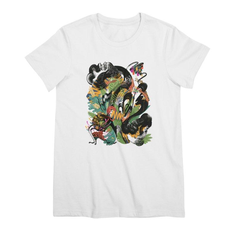 In the Garden Women's Premium T-Shirt by HABBENINK's Artist Shop