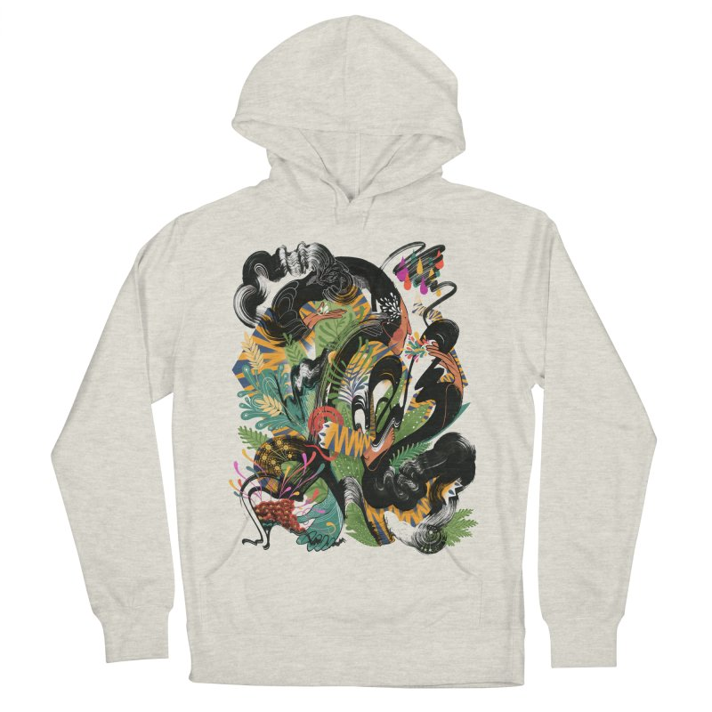 In the Garden Men's French Terry Pullover Hoody by HABBENINK's Artist Shop