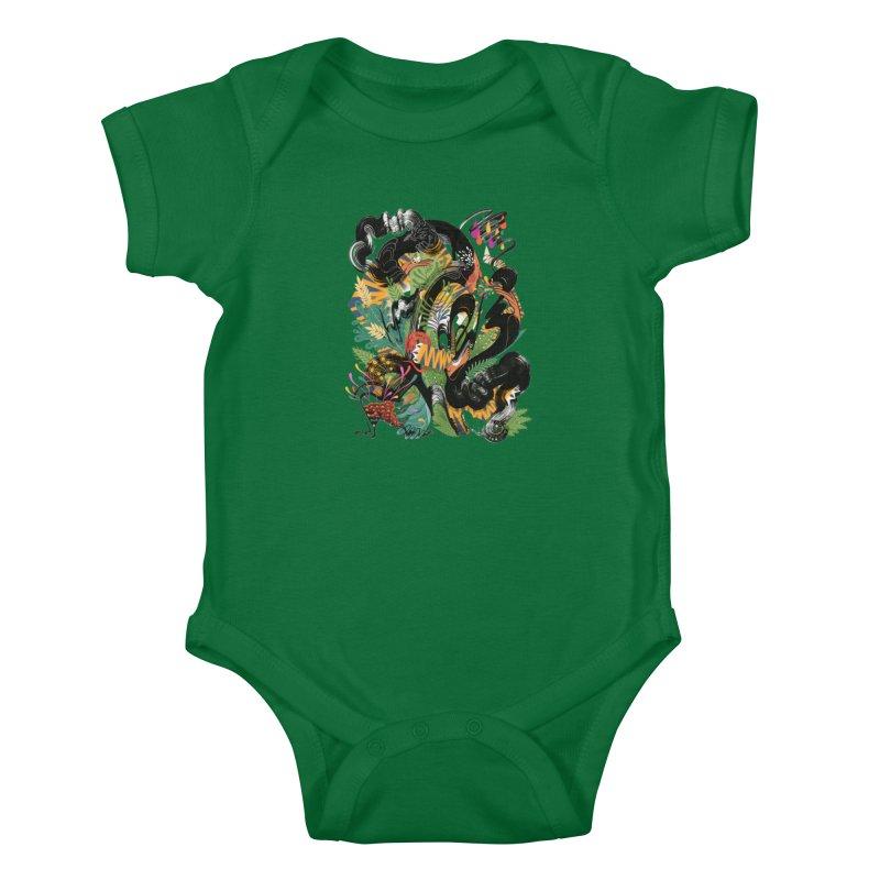 In the Garden Kids Baby Bodysuit by HABBENINK's Artist Shop