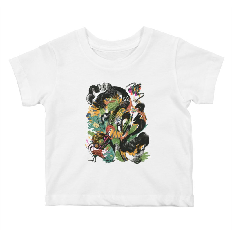 In the Garden Kids Baby T-Shirt by HABBENINK's Artist Shop