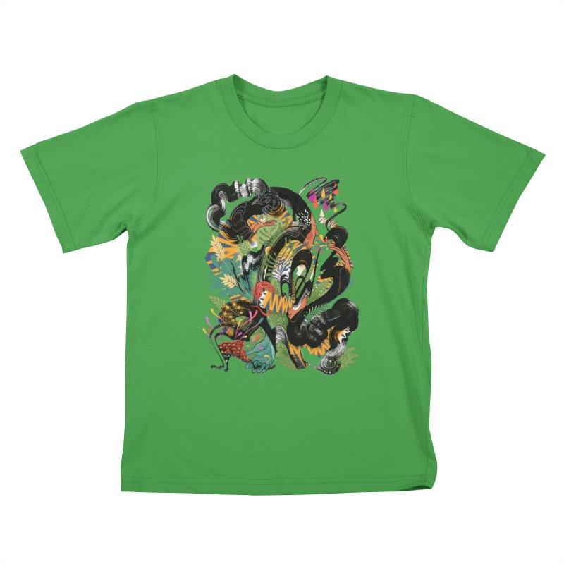 In the Garden Kids T-Shirt by HABBENINK's Artist Shop