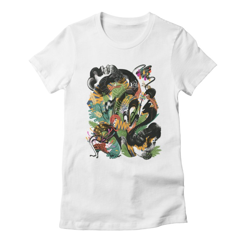 In the Garden Women's Fitted T-Shirt by HABBENINK's Artist Shop