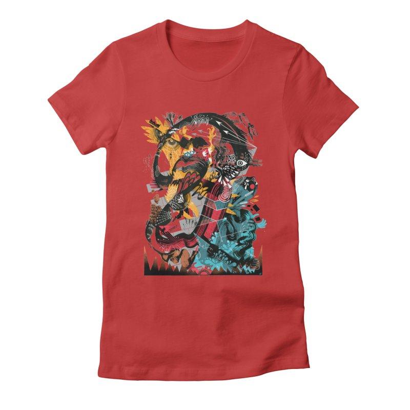 Nacido Sin Rostro Women's Fitted T-Shirt by HABBENINK's Artist Shop