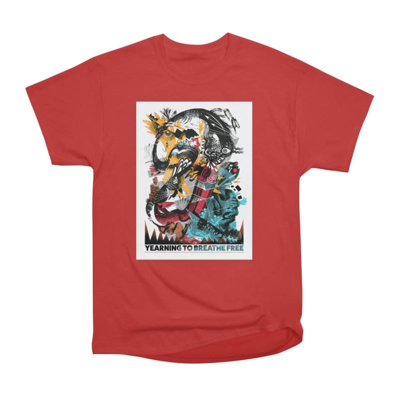 Yearning To Breathe Free Men's T-Shirt by HABBENINK's Artist Shop