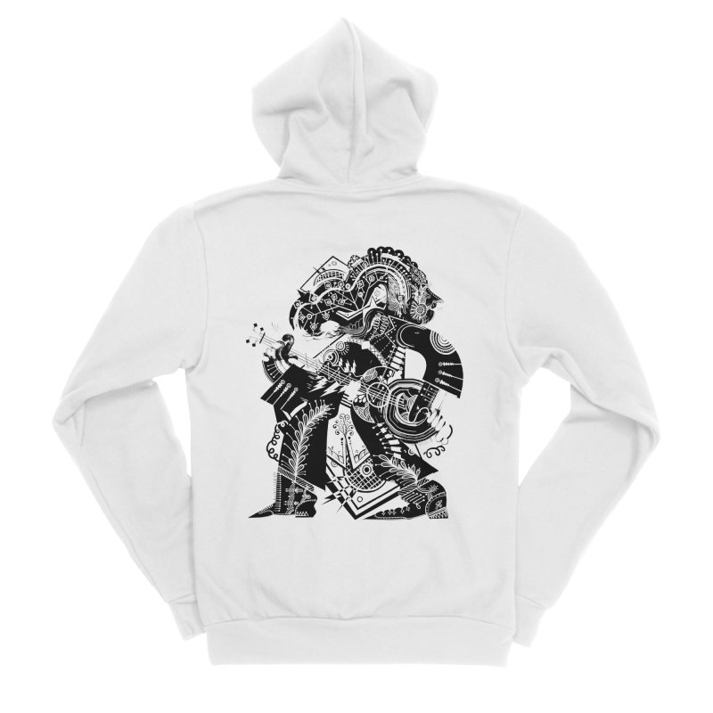 Something to Say (B/W) Women's Zip-Up Hoody by HABBENINK's Artist Shop
