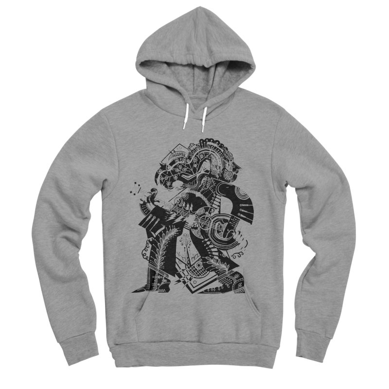 Something to Say (B/W) Men's Sponge Fleece Pullover Hoody by HABBENINK's Artist Shop