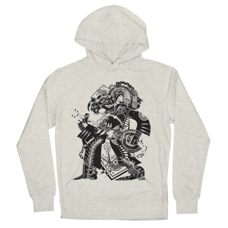 Something to Say (B/W) Men's French Terry Pullover Hoody by HABBENINK's Artist Shop