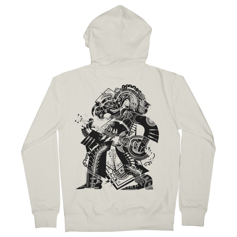Something to Say (B/W) Women's French Terry Zip-Up Hoody by HABBENINK's Artist Shop