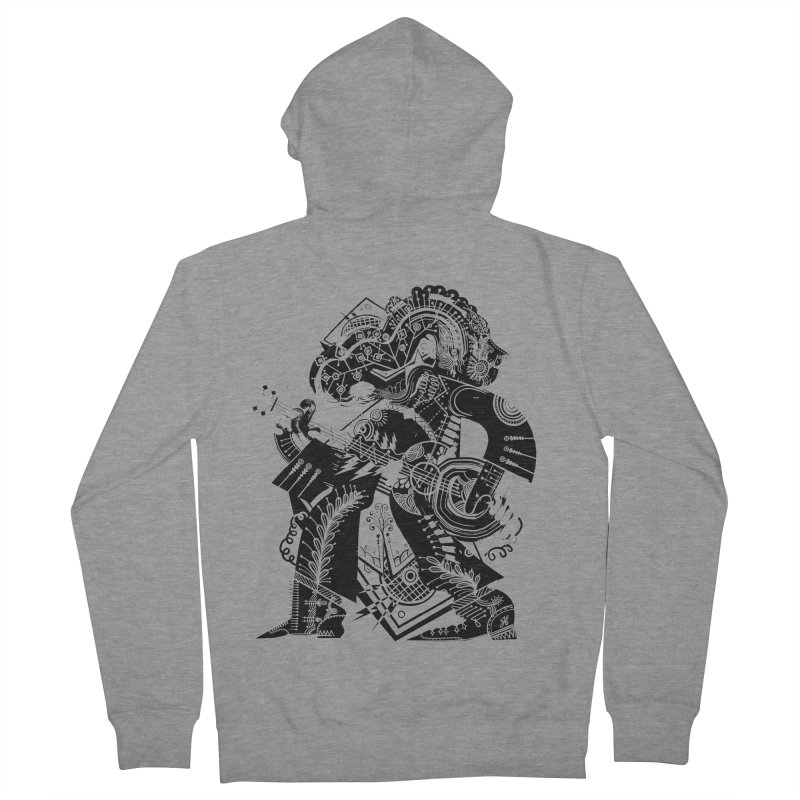 Something to Say (B/W) Men's French Terry Zip-Up Hoody by HABBENINK's Artist Shop