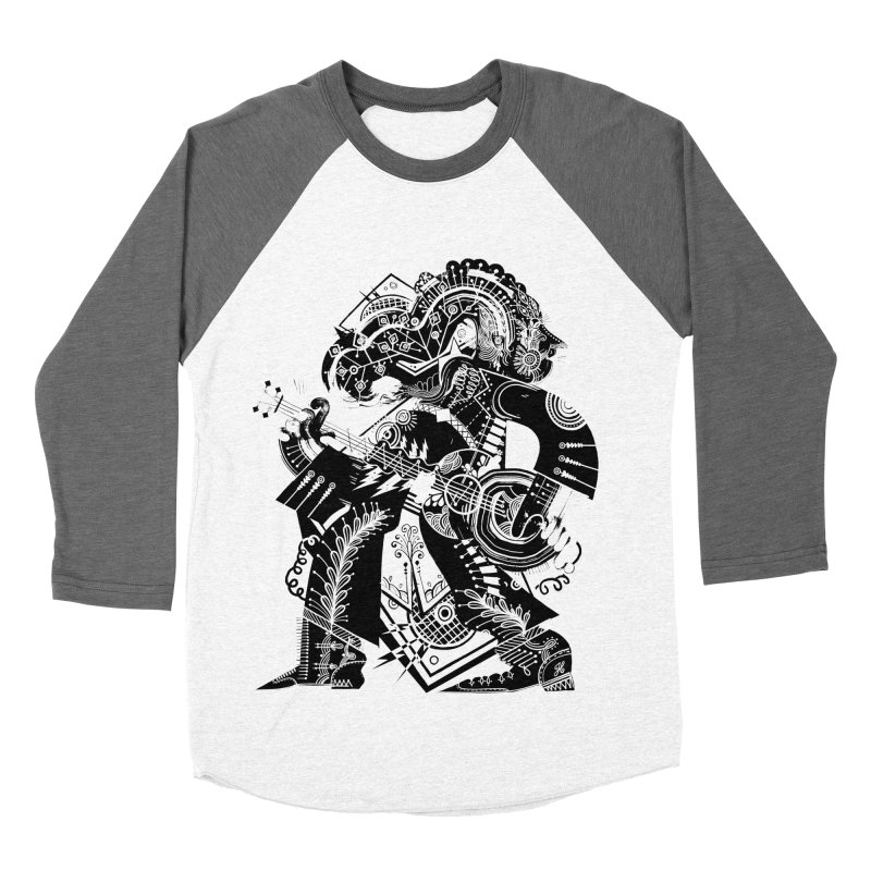 Something to Say (B/W) Women's Baseball Triblend Longsleeve T-Shirt by HABBENINK's Artist Shop