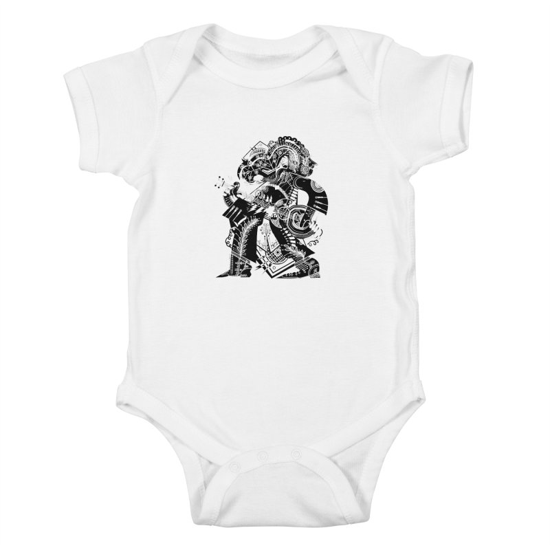 Something to Say (B/W) Kids Baby Bodysuit by HABBENINK's Artist Shop